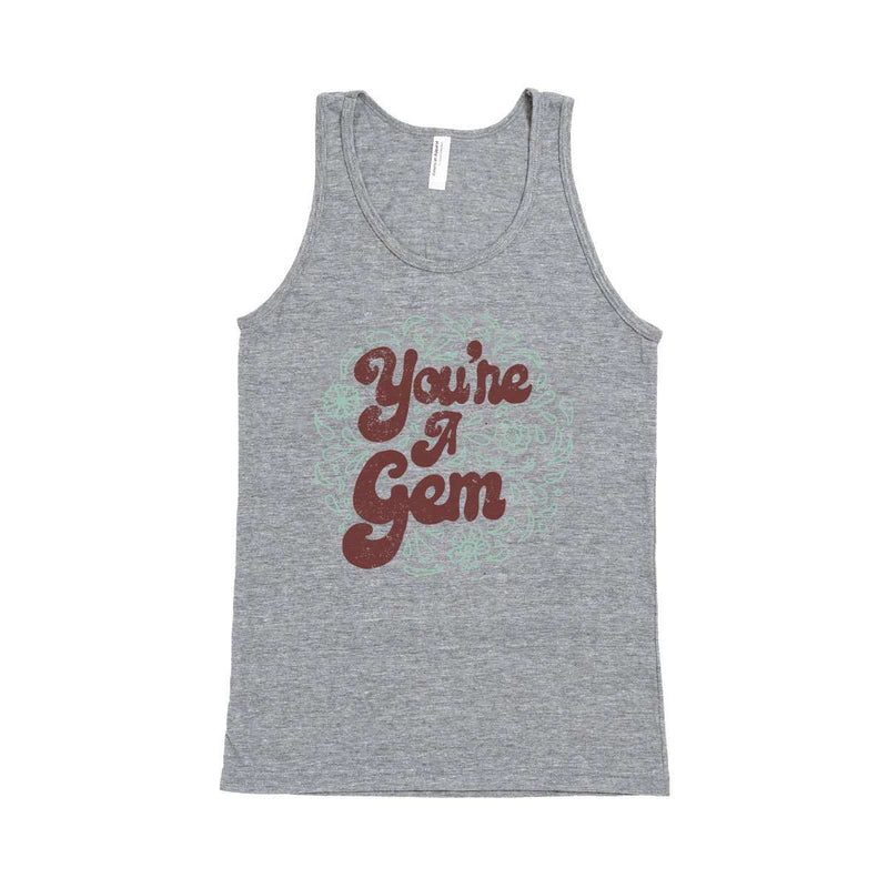 Unisex Adult Tank - 'You're a Gem' - Grey