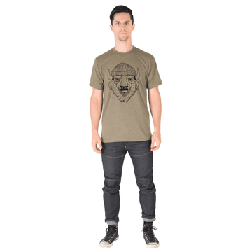 Unisex Adult Tee Shirt - 'Borris the Bison'