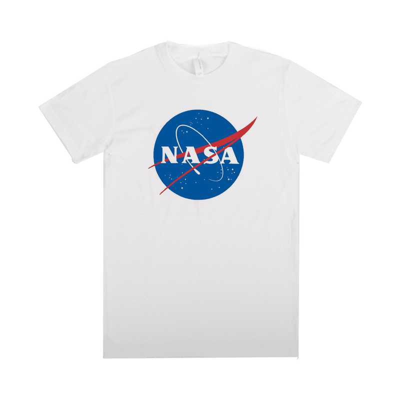Unisex Adult Tee Shirt - 'NASA Meatball' - White