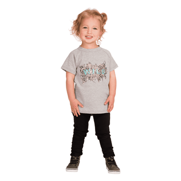 Kid's Raglan Drop Back Tee Shirt  - 'Wild Flowers'