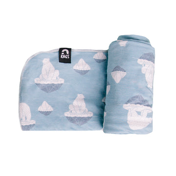 Baby Swaddle - 'Polar Bears' - Single Pack
