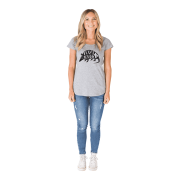 Women's Scoop Neck Tee Shirt - 'Texas Tough'