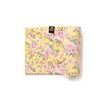 Baby Swaddle - 'Yellow Floral' - Single Pack