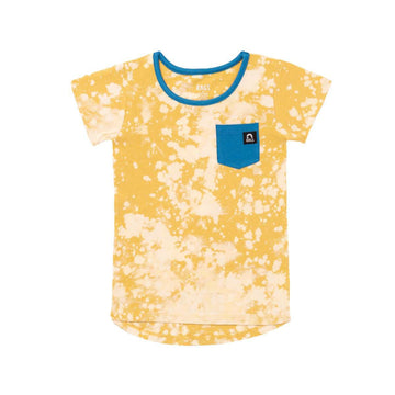 Short Sleeve Drop Back Chest Pocket Tee - 'Tie Dye' - Easter