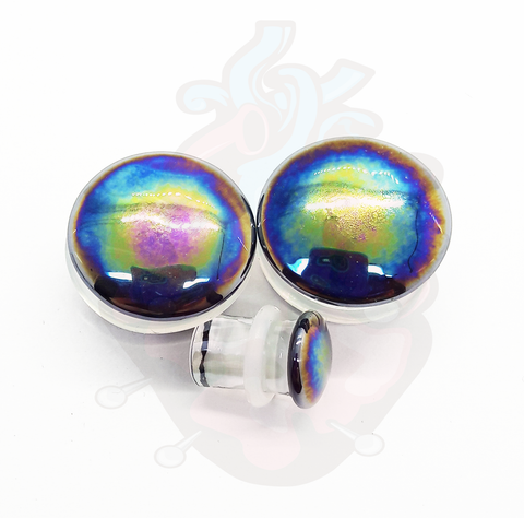 Alargador Oil Slick Rainbow Vidro