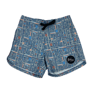 "TINY WHALES X SEAESTA SURF COLAB ""SKULL N BONES"" BOARDSHORT LIMITED EDITION"