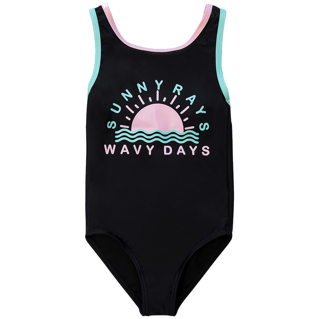 "TINY WHALES X SEAESTA SURF COLAB ""SUNNY RAYS"" SWIMSUIT LIMITED EDITION"