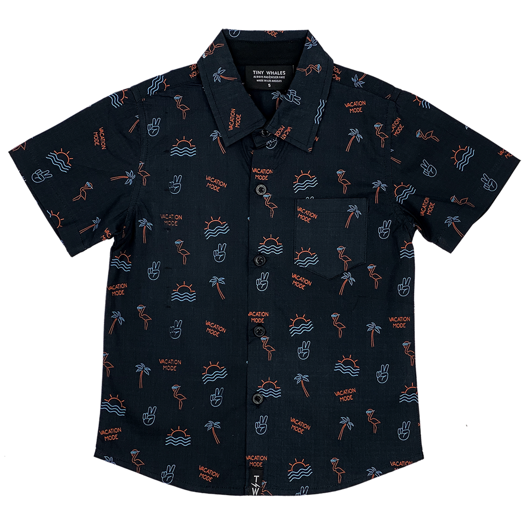 Vacation Mode Button Up LIMITED EDITION