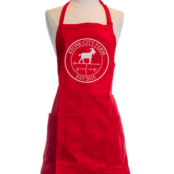 Bib Apron | Red