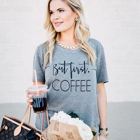 But First, Coffee Slouchy Tee