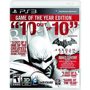 Batman: Arkham City Game of the Year - PlayStation 3