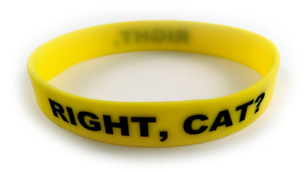 Right, Cat? Right. Wristband