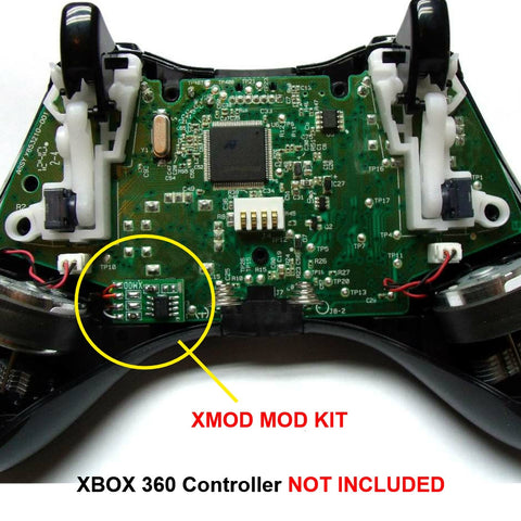 23 Mode Xbox 360 Mod Chip, XMOD Rapid Fire Modded Controller