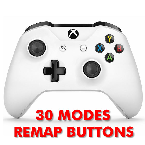 XBOX ONE S Modded Controller - XMOD 30 PLUS Remap Mode, White