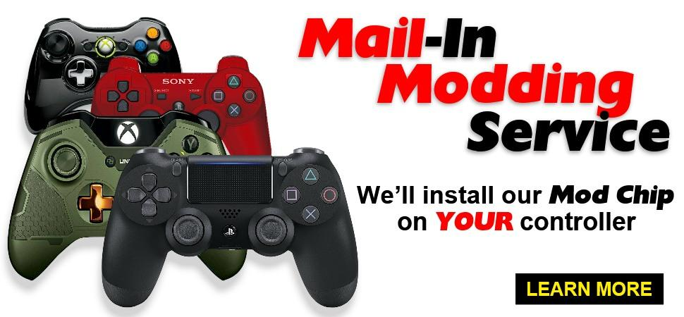 PS4 Pro, Xbox One X, Send-In, Mail-In Installation Modding Service XBOX ONE, XBOX 360, PS3, PS4 modchip