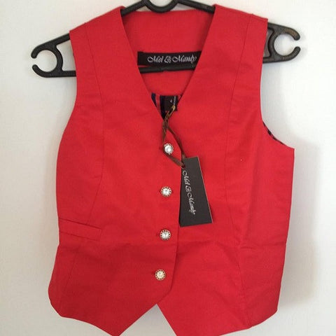 Mel & Mandy Jayne Ladies Vests - Red