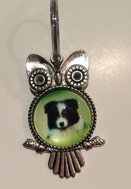 Border Collie Pup Key Ring