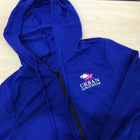 Urban Horsewear Royal Blue Lightweight Zip Hoodie