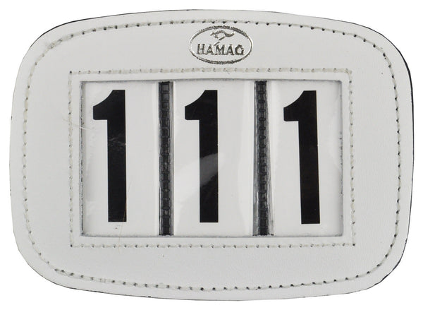 Hamag™ Leather Saddle Cloth Numbers Pair