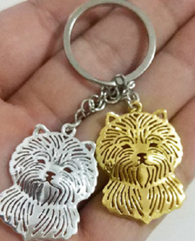 Cairn Terrier Dog Key Ring