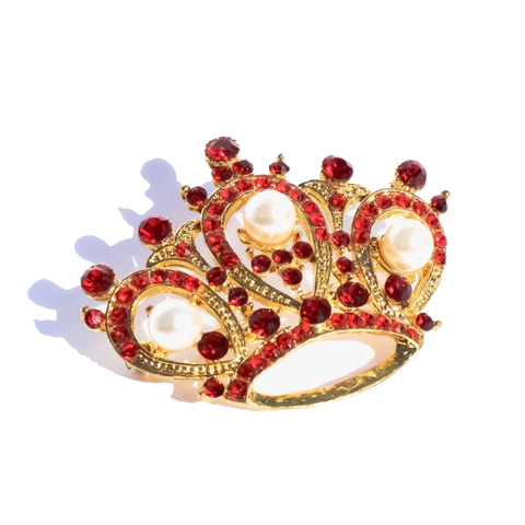 Red/Gold Crown Stock Pin