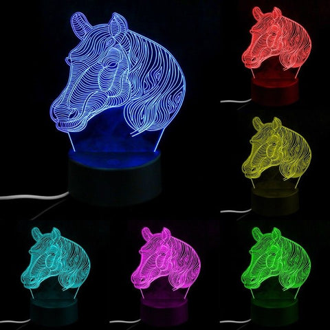 3D LED Horse Head Light