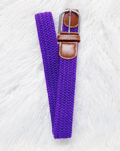 Urban Horsewear Stretch Belt Purple Eminence