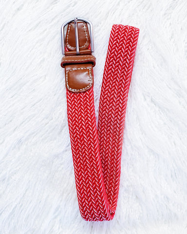 Urban Horsewear Stretch Belt Red/White
