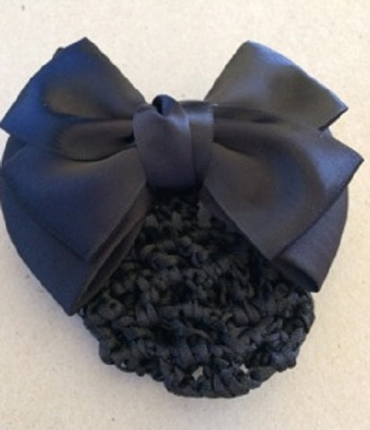 Black Hair Bow Snood