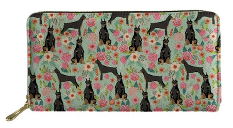 Doberman Dog Wallet Purse