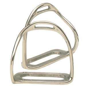 Equisteel Bent Leg Safety Stirrups Stainless Steel