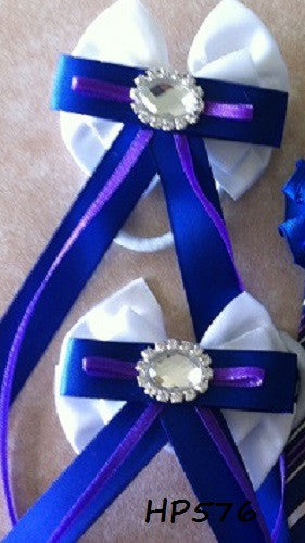 White Royal Blue & Purple