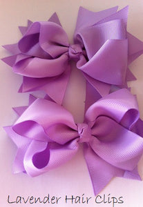 Lavender Childrens Hair Clips