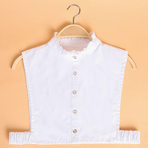 Bib Shirt Ruffle Collar