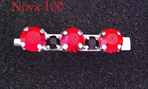 Red & Black Rhinestone Pin