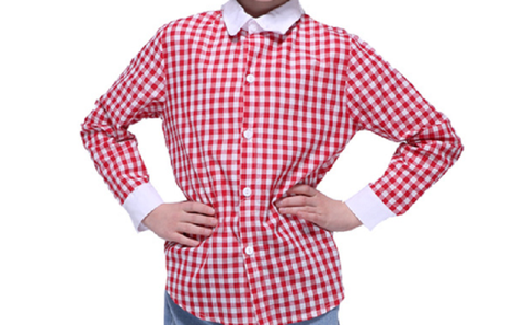 Red & White Check Childrens Shirt