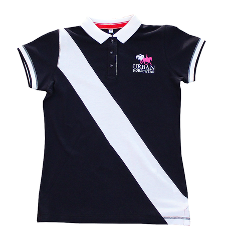 Urban Horsewear Polo  Hot Pink/Navy Blue & Navy/Red