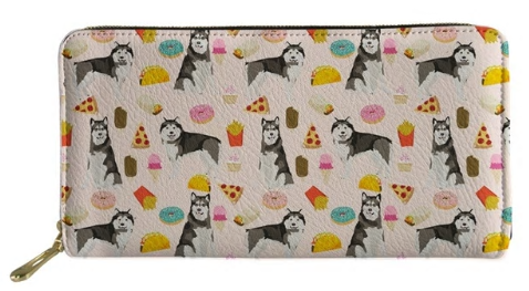 Alaskan Malamute Dog Wallet Purse