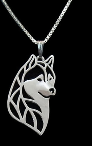 Alaskan Malamute Dog Necklace