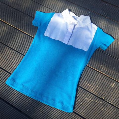 Aqua Blue Childrens Competition Shirt