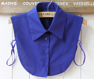 Royal Blue Collar Bib Shirt