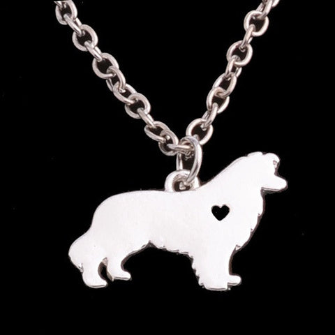 Border Collie Dog Necklace - Gift Box