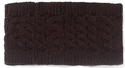 Brown Cable Knitted Head Warmer Band