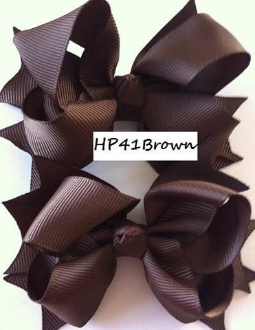 Brown Hair Bows