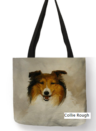 Collie Rough Dog Tote Bag