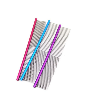 Grooming Comb   Blue, Green, Purple, Red