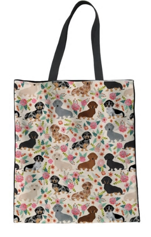 Dachshund Dog Tote Bag