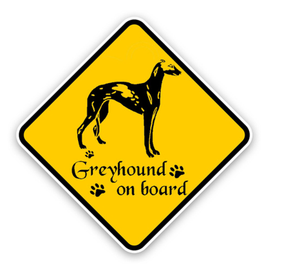 Greyhound Dog Decal Sticker
