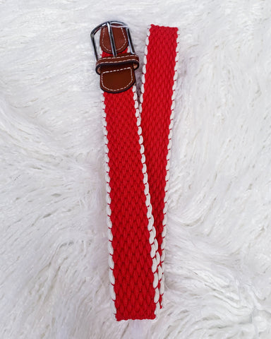Urban Horsewear Red & White Stretch Belt