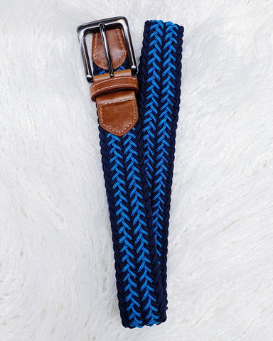 Urban Horsewear Navy/Teal Luxury Stretch Belt